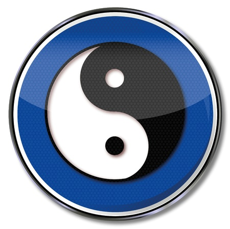 gentleness: Sign yin and yang Illustration