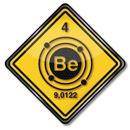 ions: Sign chemistry character beryllium  Illustration