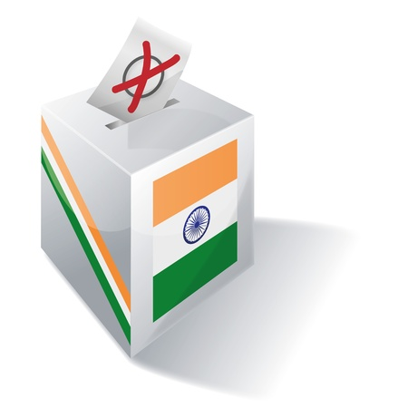 Ballot box India Vector