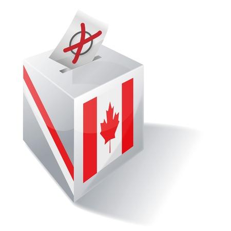 absentee: Ballot box Canada Illustration