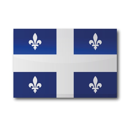 quebec: Flag Quebec Illustration
