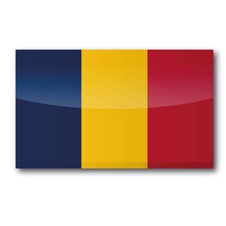landlocked: Flag Chad