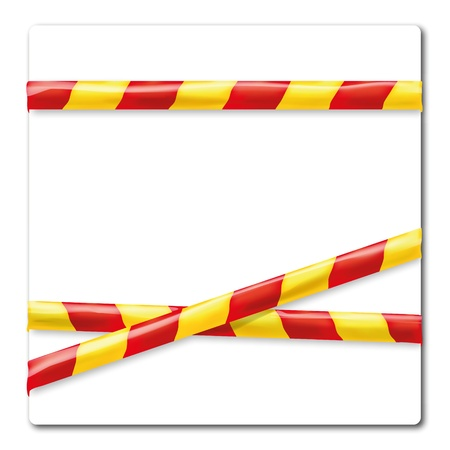 Barrier tape yellow and  red Stock Vector - 19373329