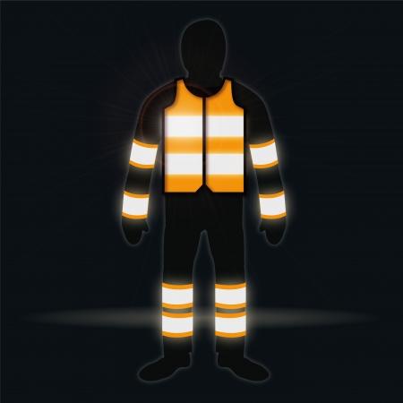 bid�: Man with waistcoat in the dark Illustration