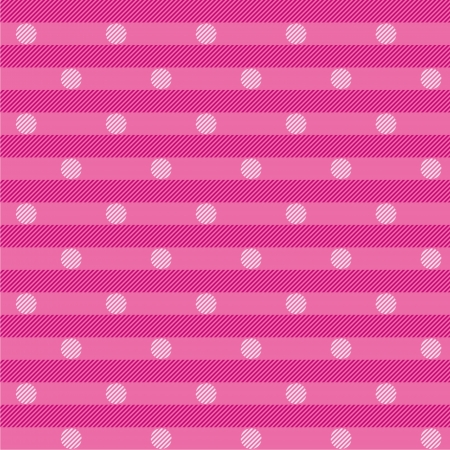 reference point: Pink cloth with dots