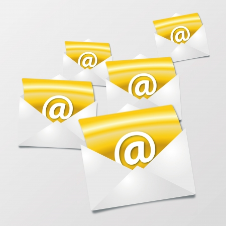 Letter and Email Stock Vector - 19373324
