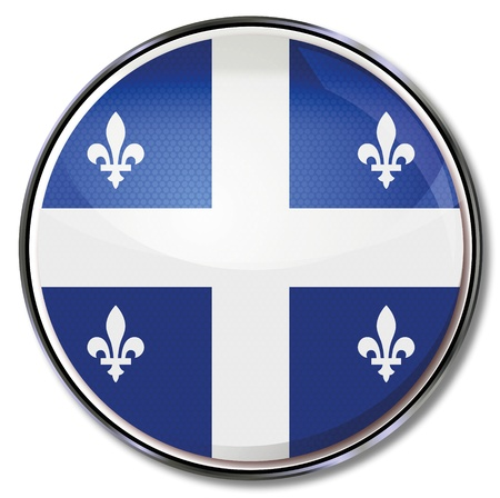 quebec: Button Quebec Illustration