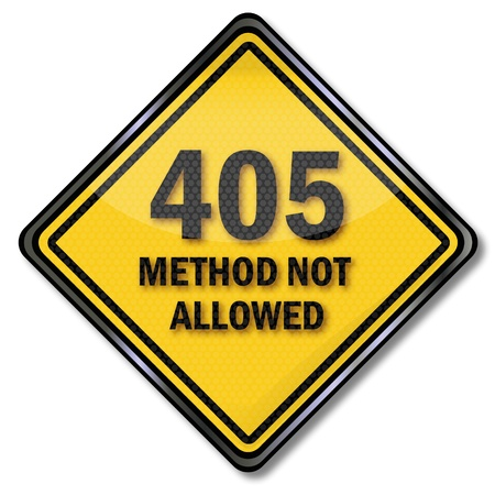 Computer sign 405 method not allowed Stock Vector - 19557898