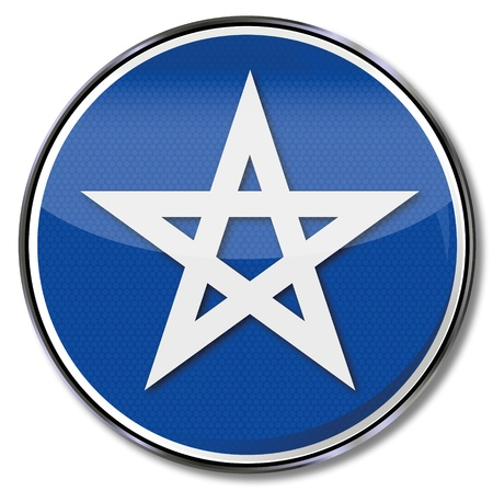 secret society: Sign with five-pointed star Illustration