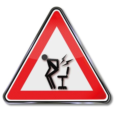 bol: Warning sign ból powrotem