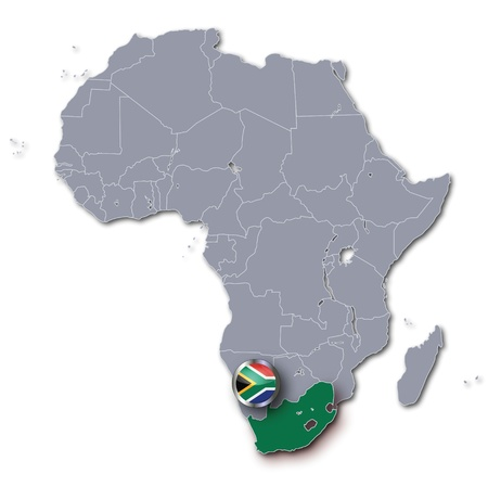 Africa Map with South Africa photo