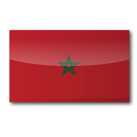 constitutionally: Flag Morocco Illustration