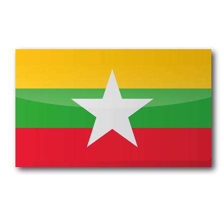 Flag Myanmar Stock Vector - 19557985