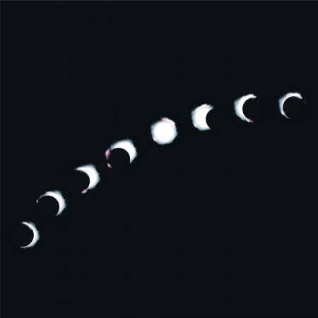 Moon walk and moon phases Vector