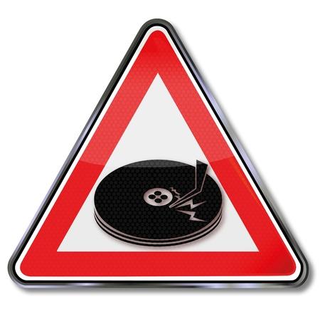 attention icon: Sign head crash