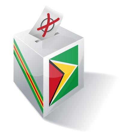 absentee: Ballot box Guyana