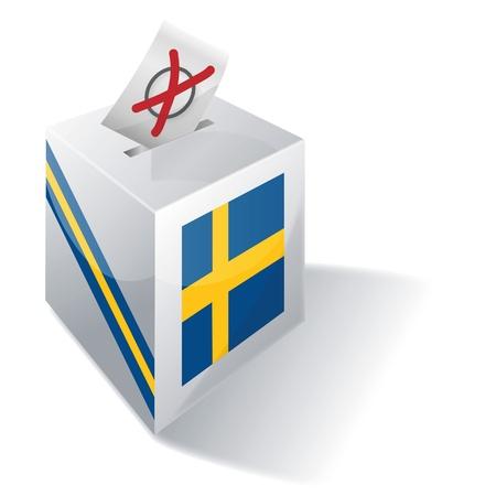 Ballot box Sweden Vector