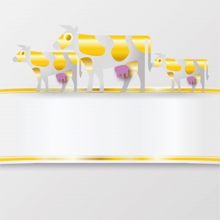 adorning: Band with golden cows Illustration