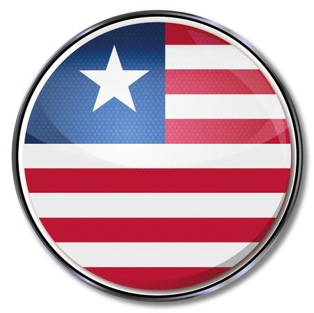 liberia: Button Liberia Illustration