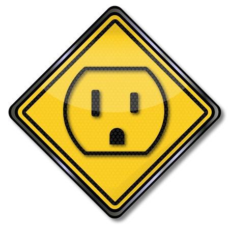 Sign power point in the U S  Illusztráció