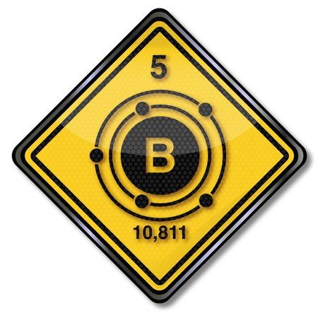 boron: Sign chemistry character boron