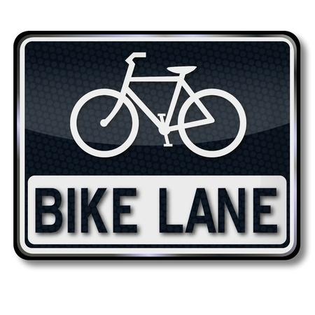 bicycle lane: Traffic sign bike lane