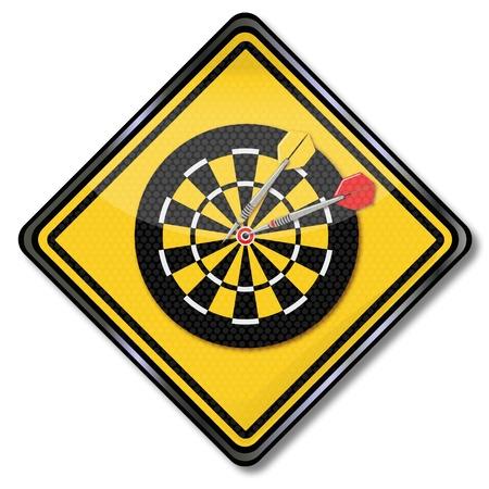 bull s eye: Sign darts