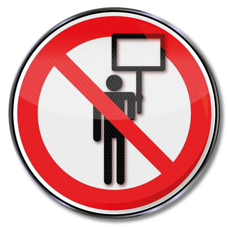 Prohibition sign advertising ban Vector