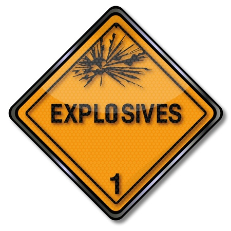 explosives: Hazard sign explosive 1 Illustration
