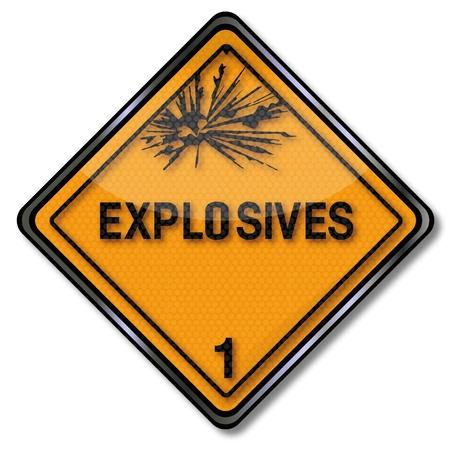 explosive hazard: Hazard sign explosive 1 Illustration