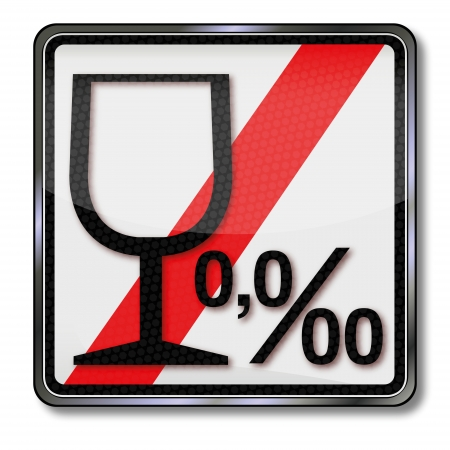 misdemeanor: Sign alcohol limit and alcohol 0 00 Illustration