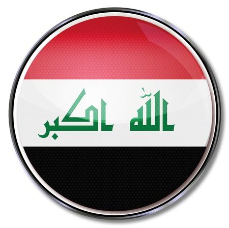 southwest asia: Button Iraq Illustration