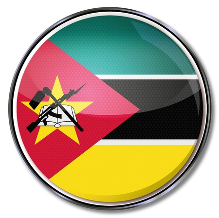 mozambique: Button Mozambique Illustration