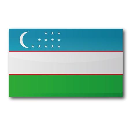 landlocked country: Bandera de Uzbekist�n