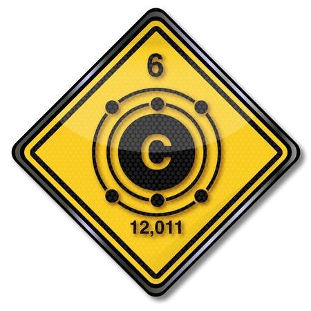 enlaces quimicos: Reg�strate qu�mica del carbono car�cter Vectores