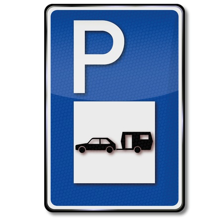 caravans: Parking for caravans Illustration