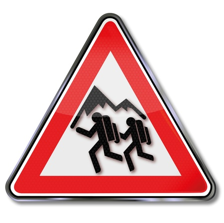 berg: Sign mountain trail