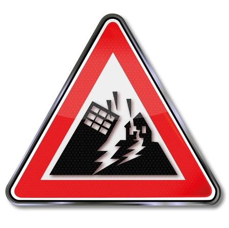 einsturz: Registrieren Katastrophe und Zusammenbruch H�user bei einem Erdbeben