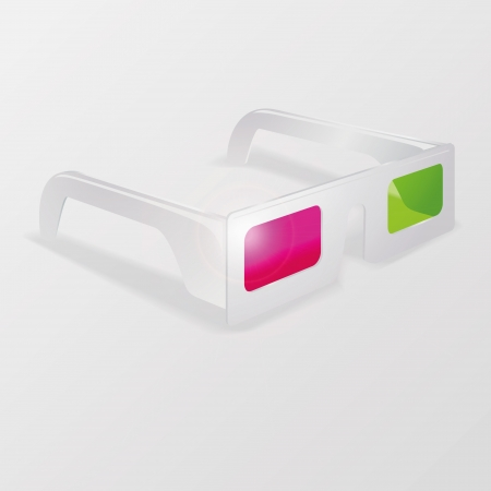 White 3d glasses Stock Vector - 20233295