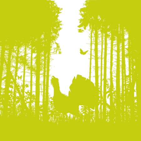 regards: Grouse in the forest Illustration