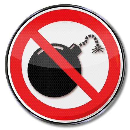 trojans: Hazard symbol and prohibition bomb