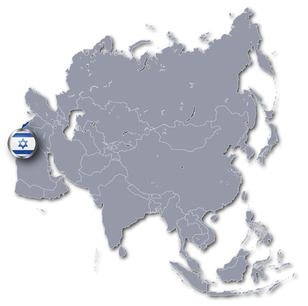 Asia Map with Israel photo