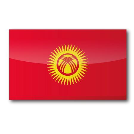 landlocked: Flag Kyrgyzstan