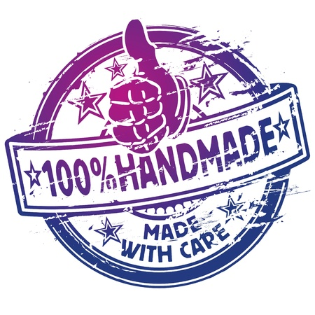 Rubber stamp 100  handmade Vector