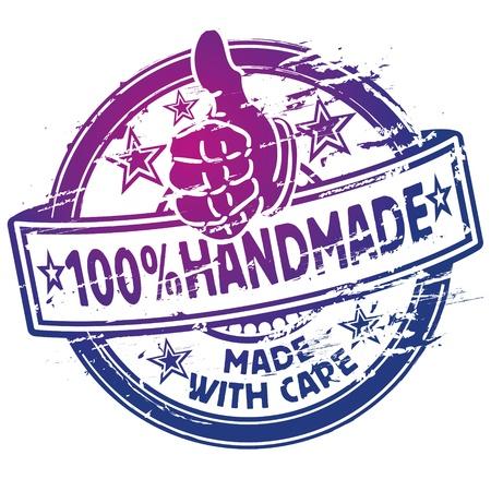 Rubber stempel 100 handgemaakte