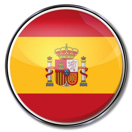 spaniards: Button Spain Illustration