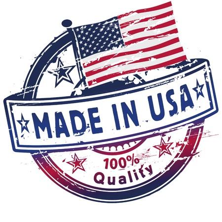 hand made: Sello de goma hecho en EE.UU.