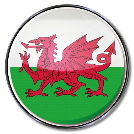 welsh flag: Button Galles