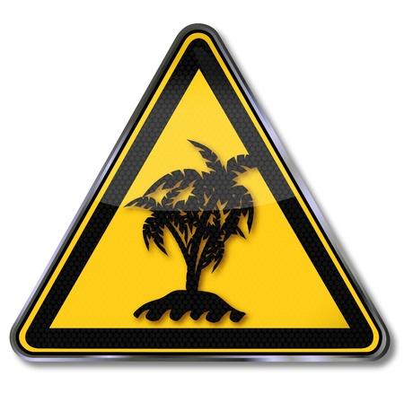 gönüllü: Yalnız palmiye ada Sign