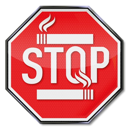 Stop smoking sign Vector